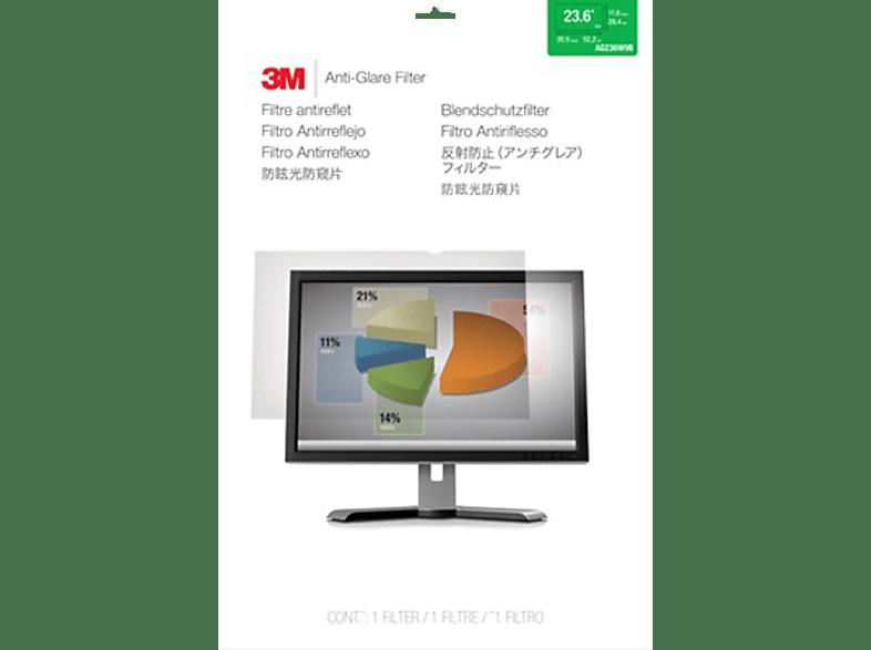 """3M AG236W9B Blendschutzfilter für LCD Widescreen Desktop Monitore 23,6"""", Blendschutzfilter"""