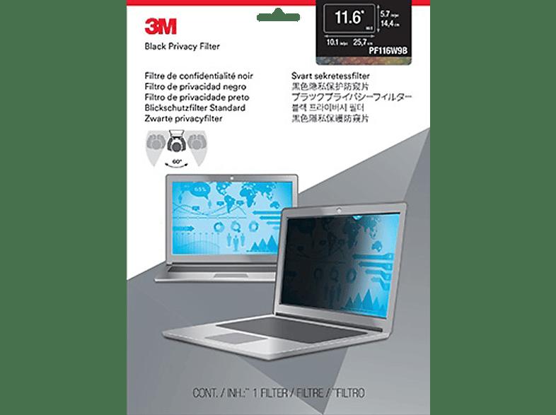 """3M PF116W9B Blickschutzfilter Standard für Notebooks 29,5 cm Weit (entspricht 11,6"""" Weit) 16:9, Blickschutzfilter"""