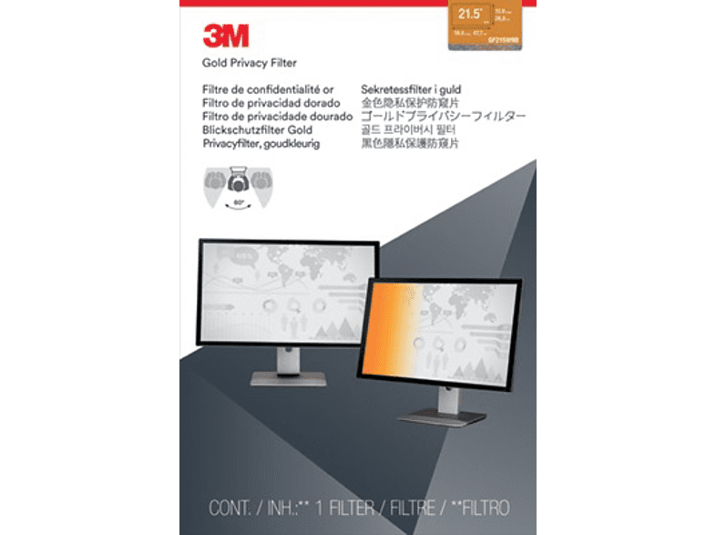 "3M GF215W9B Blickschutzfilter Gold für Monitore 54,7 cm Weit (entspricht 21.5""W) 16:9, Blickschutzfilter"