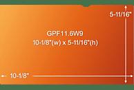 """3M GPF11.6W9 Blickschutzfilter Gold für Netbook 29,5 cm Weit (entspricht 11.6"""" Weit) 16:9, Blickschutzfilter"""