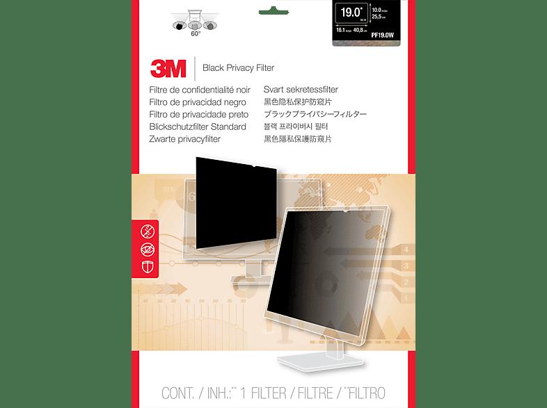 """3M PF19.0W Blickschutzfilter Standard für Desktops 48,3 cm Weit (entspricht 19,0"""" Weit) 16:10, Blickschutzfilter"""