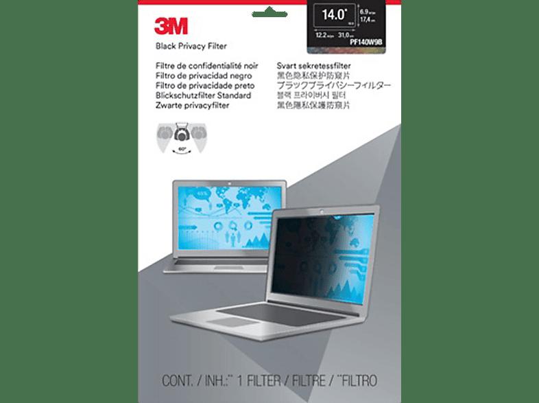 """3M PF140W9B Blickschutzfilter Standard für Notebooks 35,6 cm Weit (entspricht 14,0""""Weit) 16:9, Blickschutzfilter"""