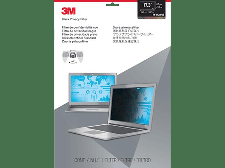 """3M PF173W9B Blickschutzfilter Standard für Notebooks 43,9 cm Weit (entspricht 17,3"""" Weit) 16:9, Blickschutzfilter"""