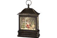 KONSTSMIDE 2886-000 Schneelaterne mit Weihnachtsmann und Kind LED Schneelaterne,  Bronze,  Warmweiß