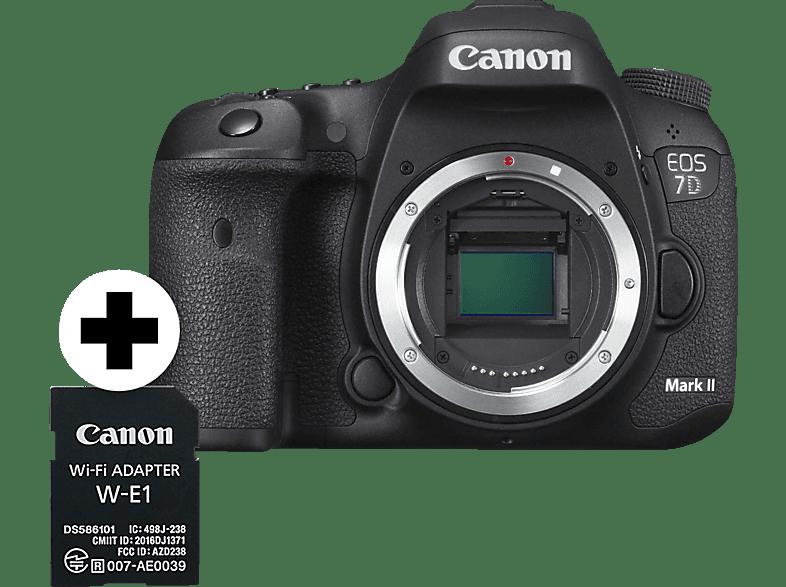 CANON EOS 7D Mark II + W-E1 Body Spiegelreflexkamera, 20.2 Megapixel, Schwarz