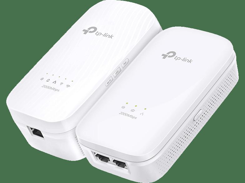 Powerline Adapter TP-LINK TL-WPA9610 KIT AV2000-AC1200-Gigabit-WLAN-Powerline-Extender KIT