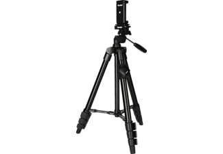 ROLLEI 22638 Dreibein Smartphone Stativ, Schwarz, Höhe offen bis 120 cm