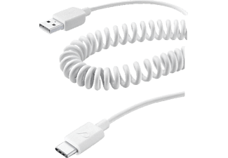 CELLULAR LINE USB Type-C, Datenkabel/Ladekabel, 0,4 m, Weiß