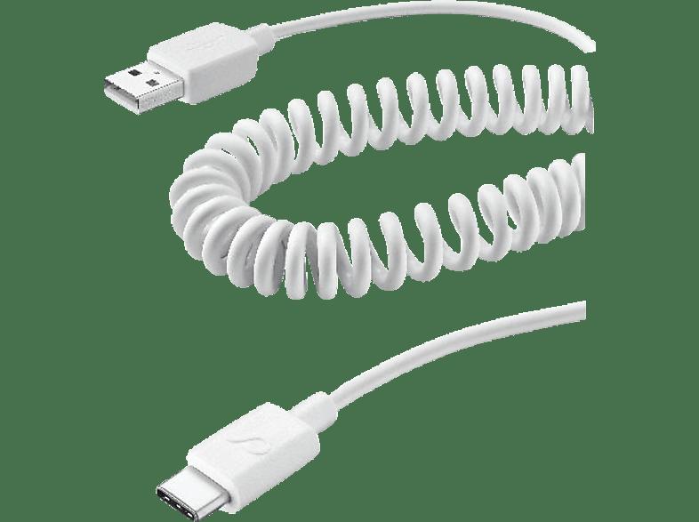 CELLULAR LINE USB Type-C, Daten- und Ladekabel, 0.4 m, Weiß