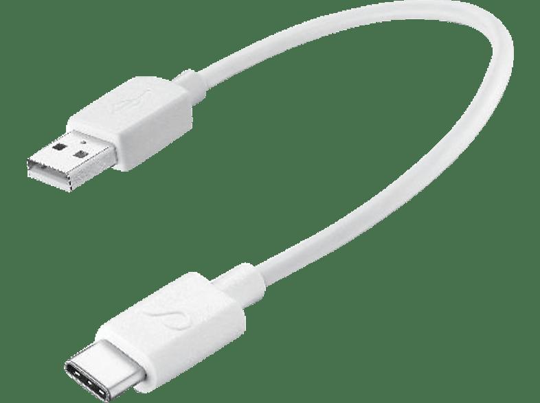 CELLULAR LINE USBDATACTRUSBCW, Datenkabel/Ladekabel, 0.15 m, Weiß