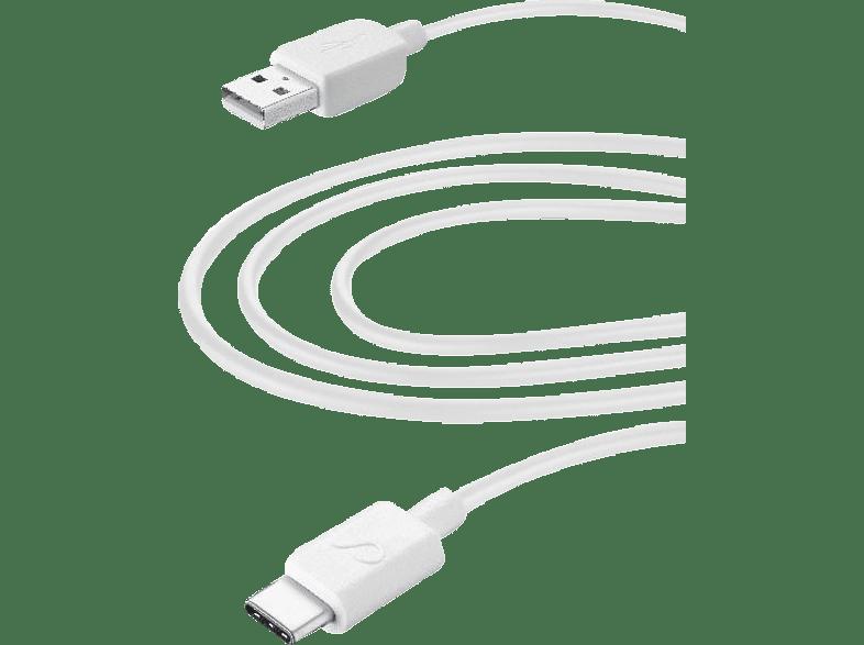 CELLULAR LINE Home XL - USB Type-C - Micro USB, Datenkabel/Ladekabel, 3 m, Weiß