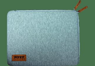 PORT t Notebooktasche Sleeve für Universal Neopren/Baumwolljersey, Grau