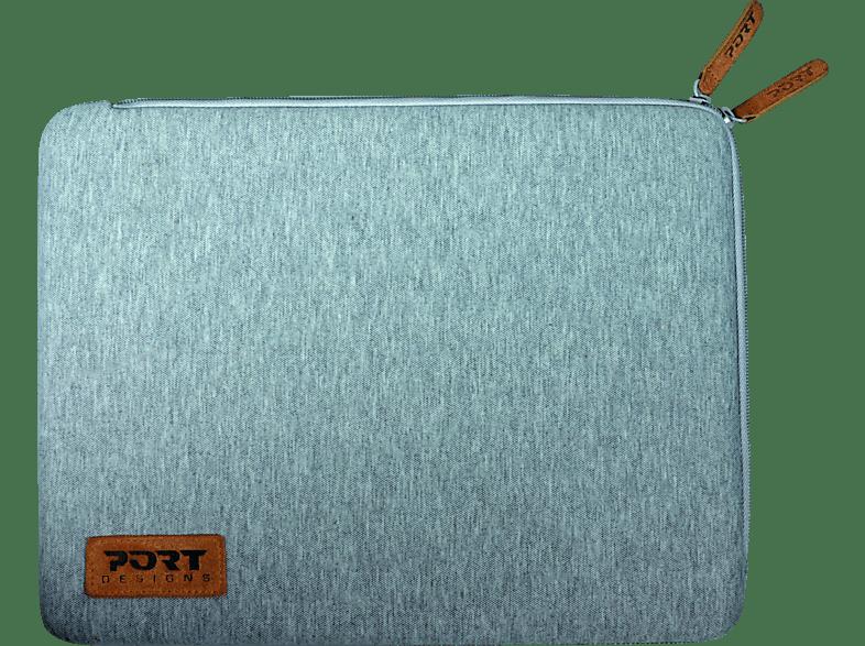 PORT TORINO Notebooktasche, Sleeve, 14 Zoll, Grau