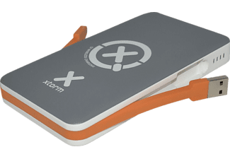 XTORM Powerbank Wireless 8.000 XB103 Grau/Weiß/Orange