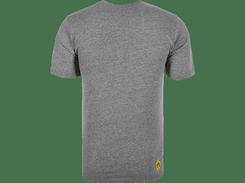 PUMA PUMA BVB Borussia Dortmund T Shirt, Grau Fanartikel