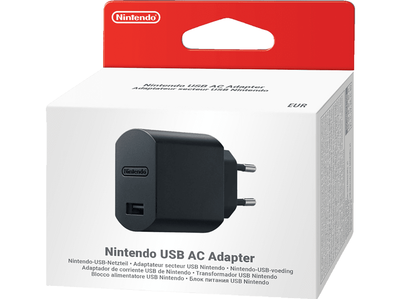 NINTENDO Classic Mini: USB AC Adapter , Netzteil, Schwarz
