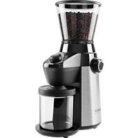CASO 1832 Barista Flavour Design Kaffeemühle Edelstahl/Schwarz (150 Watt, Edelstahl Kegelmahlwerk)