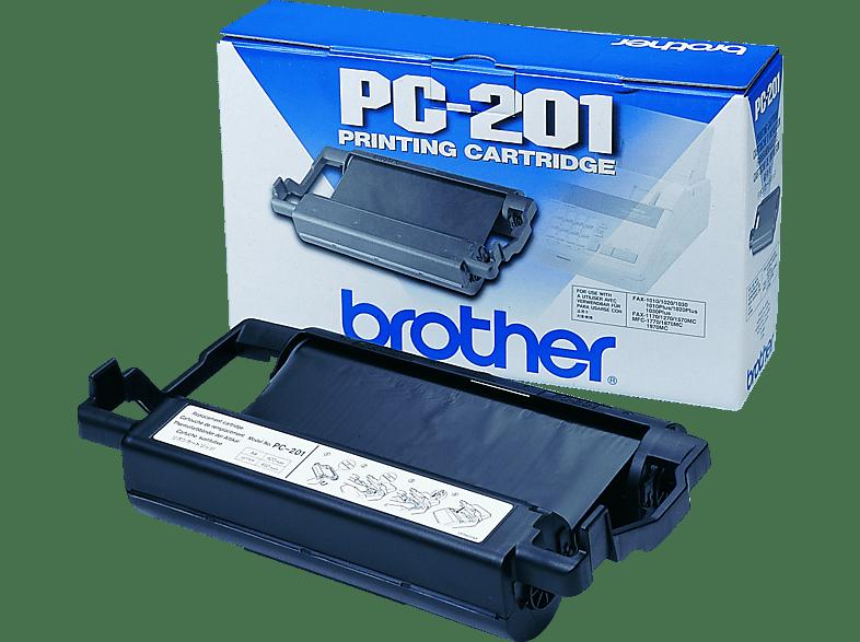 BROTHER Mehrfachkassette PC-201 inkl. Farbband Thermotransferfolie