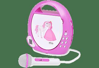 SILVA Kinder CD Player Junior Mini mit Mikrophon, pink