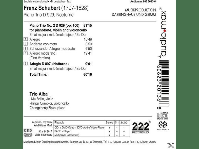 Trio Alba - Klaviertrio 2  D 929/Notturno D 897 [SACD Hybrid]