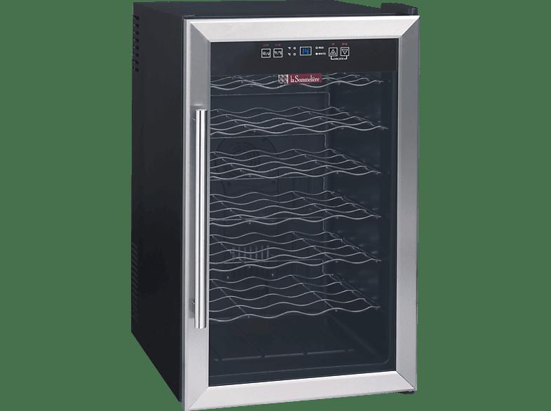 LA SOMMELIER LS28 Weinklimaschrank (203 kWh/Jahr, EEK C, Schwarz)