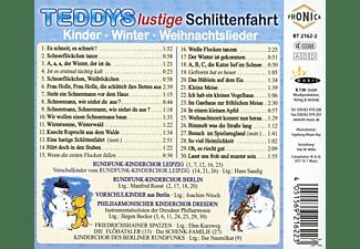Winter,Kinder,Weihnachtslieder - Teddys lustige Schlittenfahrt  - (CD)