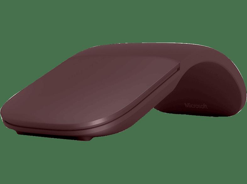 MICROSOFT Surface Arc Mouse Funkmaus, Bordeaux Rot