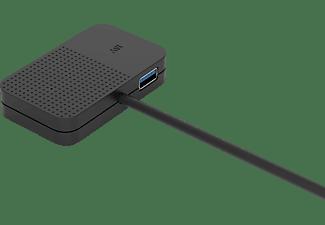 ISY IHU-1001, USB-Hub, Schwarz