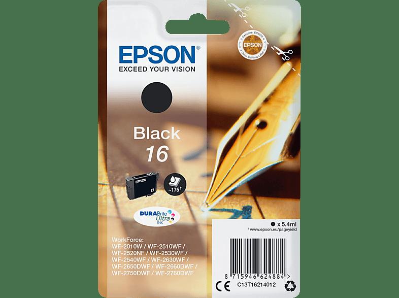 EPSON Original Tintenpatrone Füller Schwarz (C13T16214012)