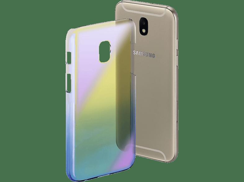 HAMA Mirror , Backcover, Samsung, Galaxy J3 (2017), Polycarbonat, Blau