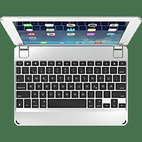 BRYDGE Hochwertige Bluetooth Tastatur aus Aluminium für das iPad Air, Air 2, iPad Pro, iPad 2017 und 2018 Tastatur Silber