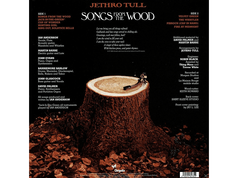Jethro Tull - Songs From The Wood (40th Anniversary Edition) [Vinyl]
