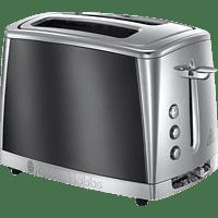 RUSSELL HOBBS 23221-56 Luna Moonlight Grey Toaster Edelstahl/Grau (1550 Watt, Schlitze: 2)