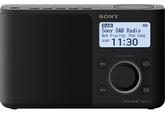 SONY DAB/DAB+ Radio XDR-S61D, schwarz, Digital Radio Portable