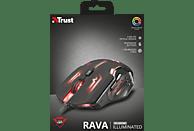 TRUST GXT 108 Rava Gaming Maus, Schwarz