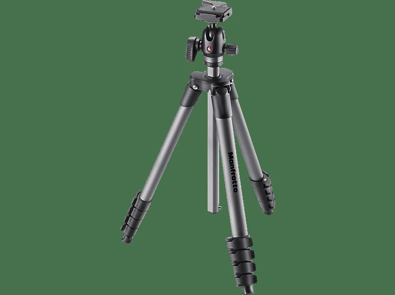 MANFROTTO Compact Advanced Dreibein Stativ, Black, Höhe offen bis bis 1670 mm