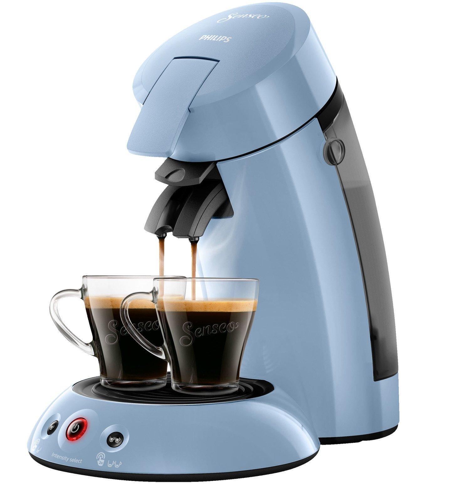 PHILIPS Original Senseo HD6554//70 Kaffeepadmaschine hellblau 1450 Watt