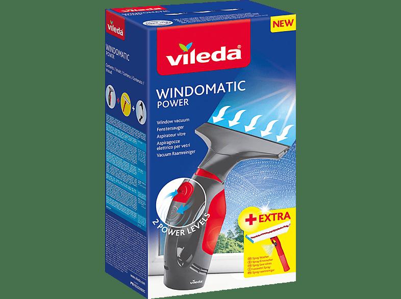 VILEDA 153239 Windomatic Power Fenstersauger, Grau/Rot
