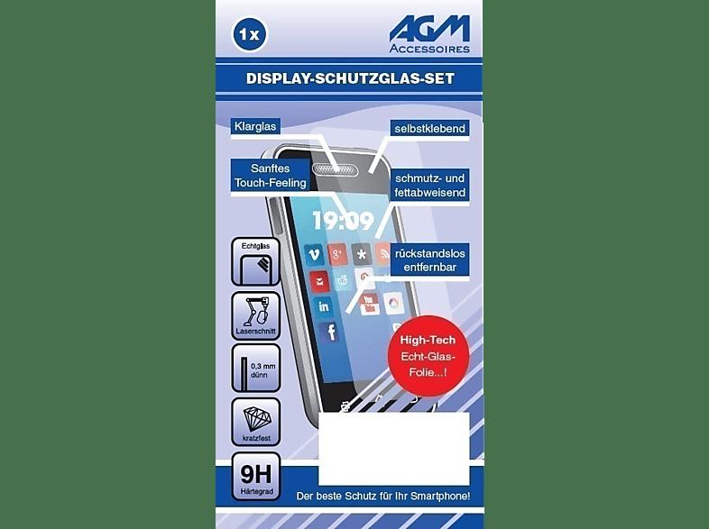AGM 9H Schutzglas + Reinigungsset (LG Q2)