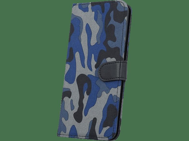 AGM 26873 , Bookcover, Samsung, Galaxy S8+, Kunstleder, Army Muster (Blau)