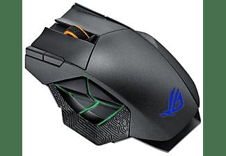 Ratón gaming - Asus ROG Spatha, 12 botones, RGB, 8200 DPI, 150 IPS, RF 2.4GHz, Negro