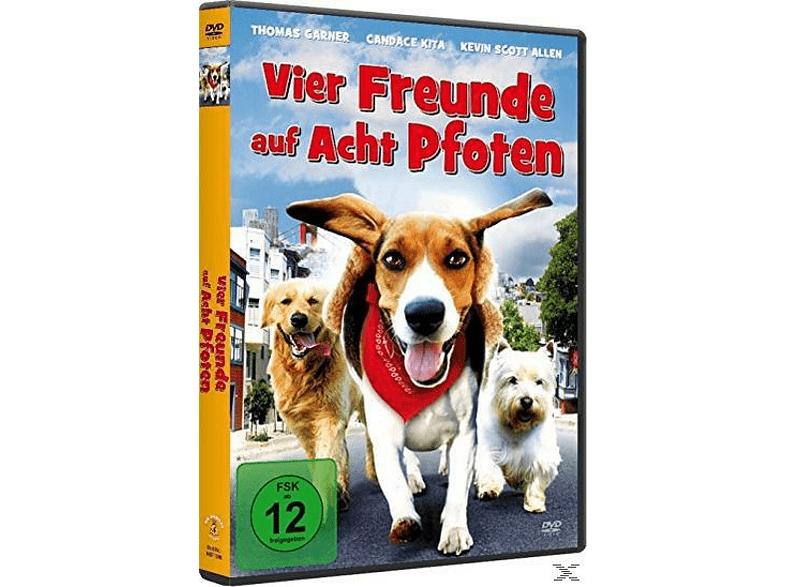VIER FREUNDE AUF ACHT PFOTEN [DVD]