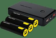 REALPOWER Family-Pack PB-17800 Mobile Ladegerät 1x 10.000 mAh, 3x 2.600 mAh Schwarz