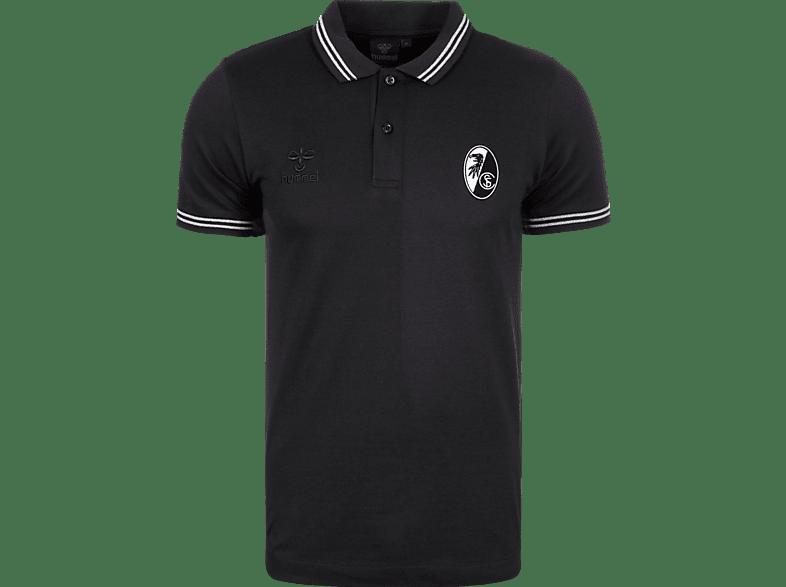 HUMMEL SC Freiburg Poloshirt, Schwarz