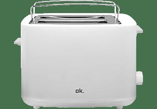 OK. OTO 2311 Toaster Weiß/Silber (870 Watt, Schlitze: 2)
