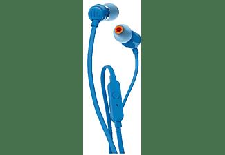 Auriculares inalámbricos - JBL T110BT, Pure Bass, Bluetooth, 96 dB, Azul