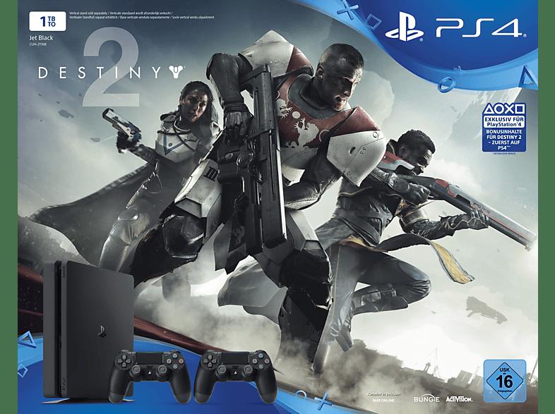 SONY PlayStation 4 Slim 1TB Schwarz + Destiny 2 + 2. DualShock4 Controller + Thats You Vouche
