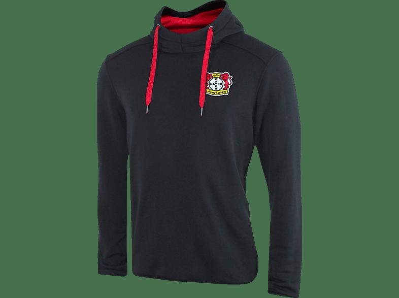 JAKO Bayer 04 Leverkusen Hoody, Schwarz/Rot