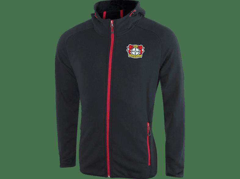JAKO Bayer 04 Leverkusen Kapuzenjacke, Schwarz/Rot