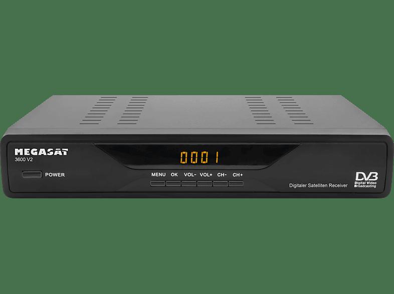 MEGASAT 3600 V2 DVB-S Receiver (DVB-S, Schwarz)